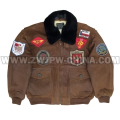G-1 Leather Flight Jacket - Leather Jacket AW/504411