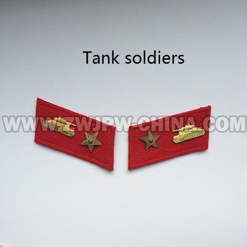 China Army Original Type 55 Copper Drivers Collar Insignia Five Stars