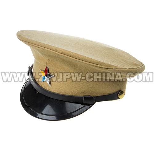 China WW2 Army Imperial Coaches Big Brim Hat With Insignia