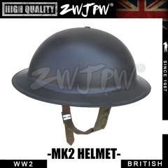 UK WW2 Army Type MK2 Helment Iron Steel Shell