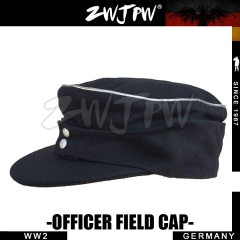 German WW2 Army WH SS Elite Type 1943 Soldier Field Cap Black Wollen