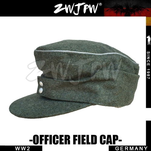 German WW2 Army WH SS Elite Type 1943 Officer Field Cap Woolen