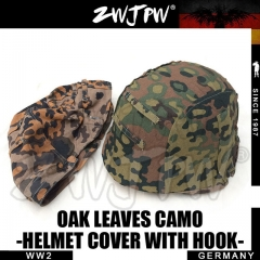 German WW2 Army SS Oak Leaves Camo M35 Helmet Cover With Hook