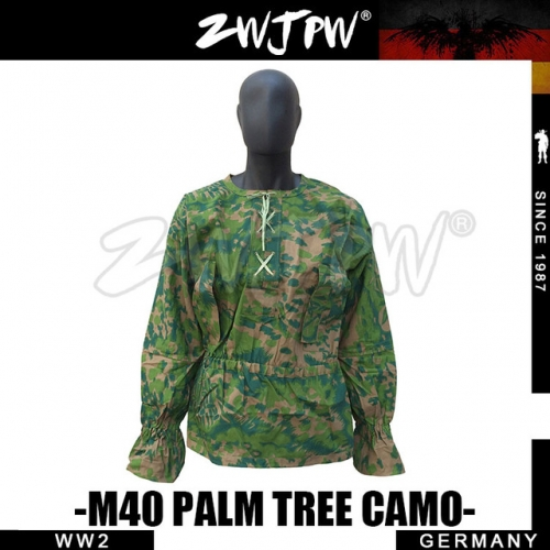 German WW2 Army M40 SS Palm Tree Camo Smock