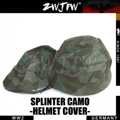 German WW2 Army WH Splinter Camo M35 Helmet Cover