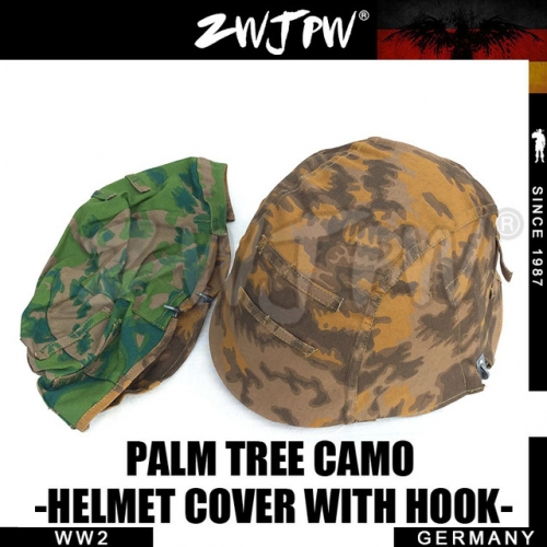 German WW2 Army SS Palm Tree Camo M35 Helmet Cover With Hook