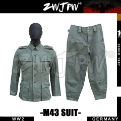 German WW2 Army Heer EM HBT M43 Field Uniform