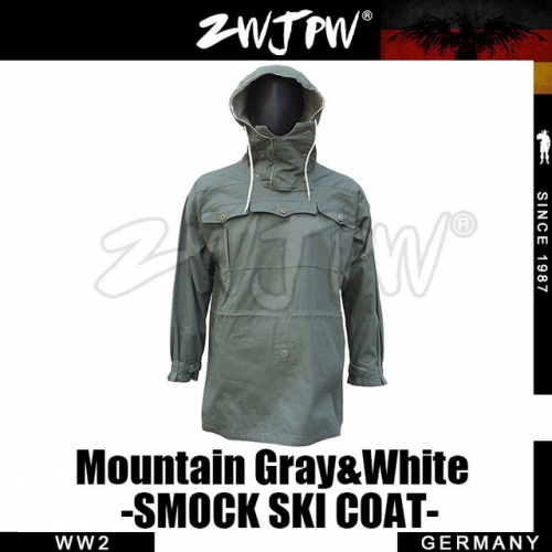 German WW2 Army Mountain Soldier Gray&White Reversible Smock Ski Coat