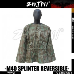 German WW2 Army Elite M40 WH Splinter Reversible Camo Smock