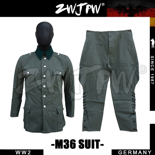 German WW2 Army Summer M36 Officer Cotton Field Uniform