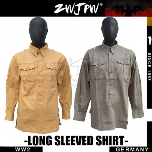 German WW2 Army WH SS Outdoor Tactical Gray Long-Sleeved Shirt Jacket