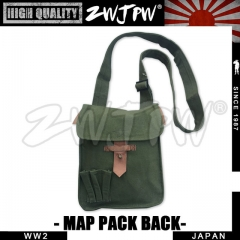 Japan WW2 Army Map Case Canvas Rucksack Green