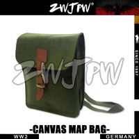 German WW2 Army Canvas Map Backpack Green