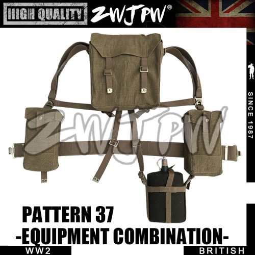 WW2 UK Army British Enfield bag Equipment group High-Quality Replica-UK/105108-b