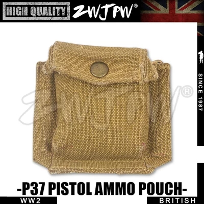 WW2 UK ARMY P37 PISTOL AMMO POUCH Compass BAG