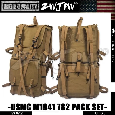 US WWII WW2 ARMY USMC M1941 782 BACKPACK SET PACK SYSTEM COMPLETE