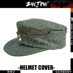 German WW2 ARMY WH SS Elite Type 1943 Gray Woolen Soldier Field Cap Hat