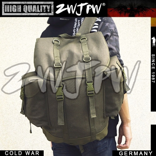 COLD WAR GERMAN ARMY MOUNTAIN BAG CANVAS BACKPACK OUTDOOR PACKAGE