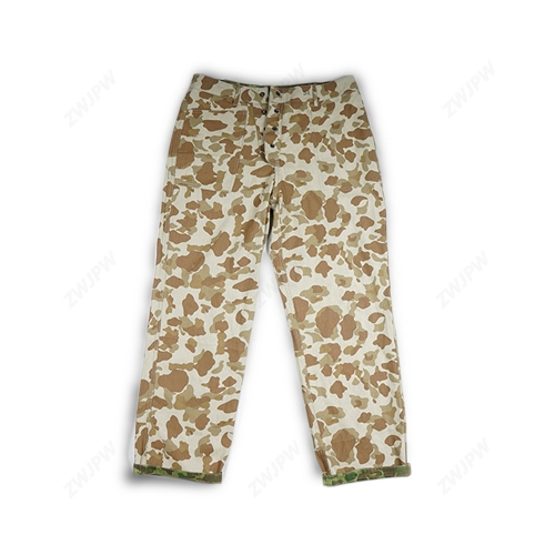 WWII US ARMY USMC Pacific Camo Cotton Pants Trousers