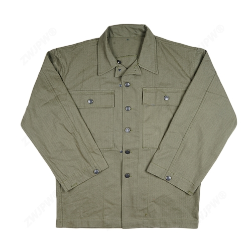 WW2 US MILITARY ARMY GREEN HBT FIELD COAT JACKET
