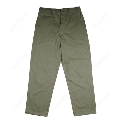 WWII US USMC HBT ARMY GREEN Field Pants Trousers