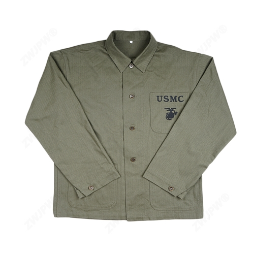 WWII US USMC HBT ARMY GREEN Field Coat Jacket