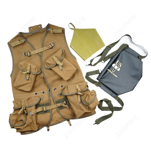 WW2 US ARMY BASIC D-DAY ASSAULT TROOP PACKAGE KHAKI EUIPMENT CONBINATION