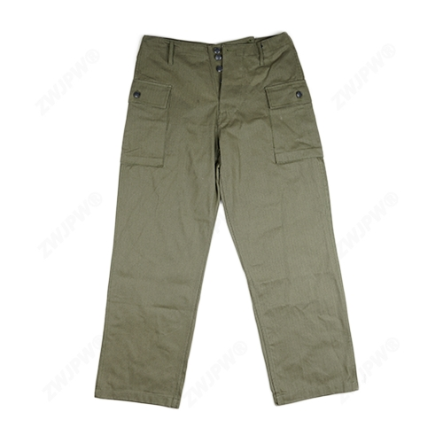 WW2 US MILITARY ARMY GREEN HBT FIELD PANTS TROUSERS