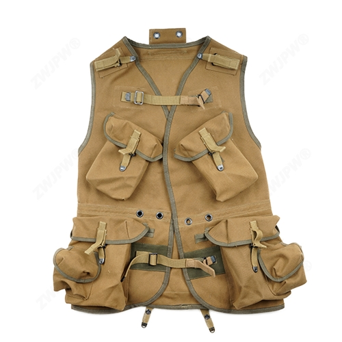 WW2 US ARMY D- DAY ASSUAULT VEST KHAKI AND ARMY GREEN REPLICA -US/409102-
