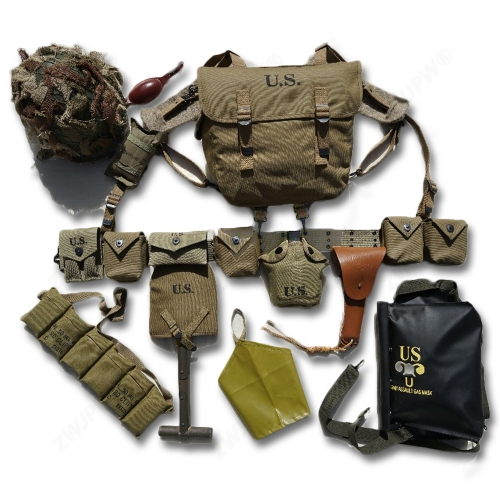 WW2 US AIRBORNE M1 Equipment Combination D-DAY Normandy M36 M1911 M1910 M7