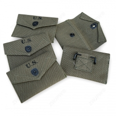 WW2 US ARMY M1942 FIRST AID POUCH PURE RIBBON WITH HOOK HIGH-QUALITY