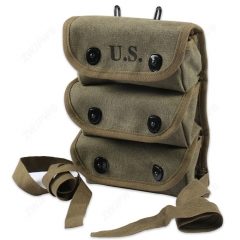 WW2 US ARMY AMMO 3 POCKET POUCH TOOL KIT