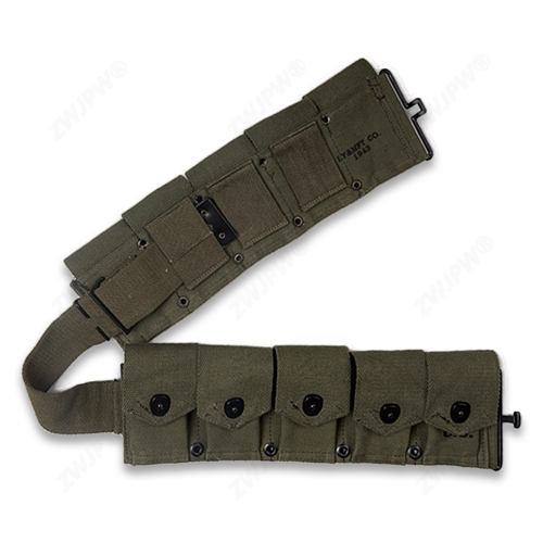 WW2 US ARMY M1 CANVAS GARAND TEN CELL POUCH ARMY GREEN HIGHT QUALITY