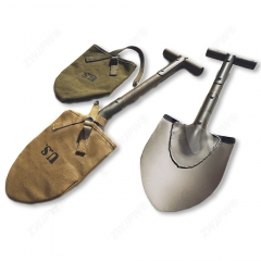WW2 US AIRBORNE M1910 T-HANDLE SHOVEL OUTDOORS TOOL WITH COVER 47CM