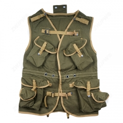 WW2 US ARMY D- DAY ASSUAULT VEST KHAKI AND ARMY GREEN REPLICA