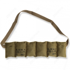 US WW2 Army Portable Magazine Pouches Canvas Khaki 6 Cell