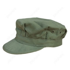 US WW2 Army Elite Green HBT Octagonal Field Cap