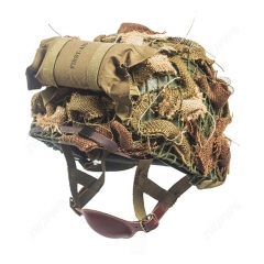 WW2 US ARMY AIRBORNE M1C HELMET FIRST AID KIT CAMOUFLAGE NET SUIT
