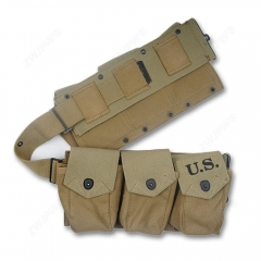 WW2 US ARMY SIX CELL CANVAS BAR POUCH KHAKI HIGHT QUALITY