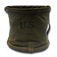 China WW2 Army Canvas Bucket Outdoor Fishing Tool