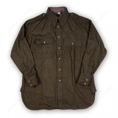 World War Two Korean War American Officers Shirt Flannel Exported D-Day Commemoration High Quality