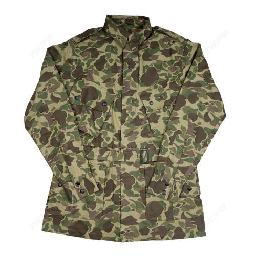 WW2 US Army Military ARMY M42 PACIFIC CAMOUFLAGE JACKET COTTON FASHION The Pacific Ocean Paratrooper uniform