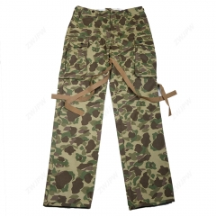 WW2 US Army Military ARMY M42 PACIFIC CAMOUFLAGE PANTS COTTON FASHION The Pacific Ocean Paratrooper uniform