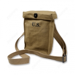WWII WW2 US Army khaki Thomso Ammo pouch Article 6 capacity pouch
