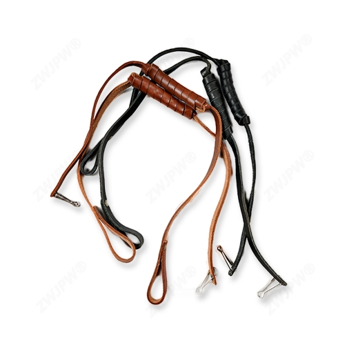 China Army Brown Leather Key Chain Strap