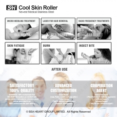 Skin Ice Derma Roller for Bady Refreshing and Rejuvenation ( Stainless Roller )