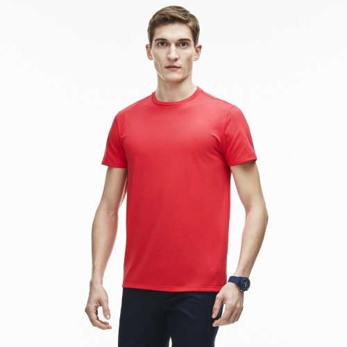 Men  Solid Cotton Crewneck Tee