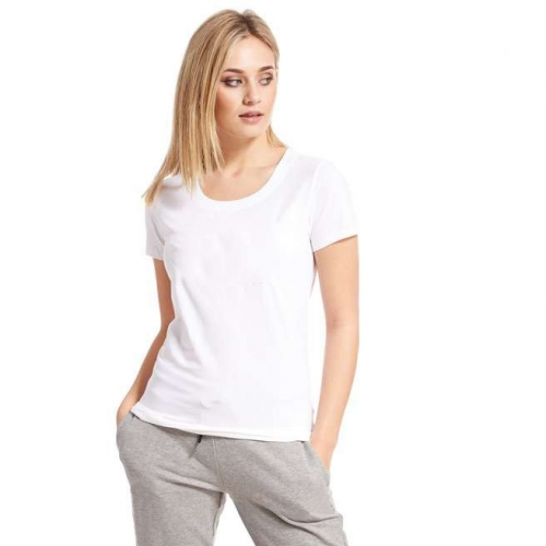 women's slim fit silver letter print quality T-shirt