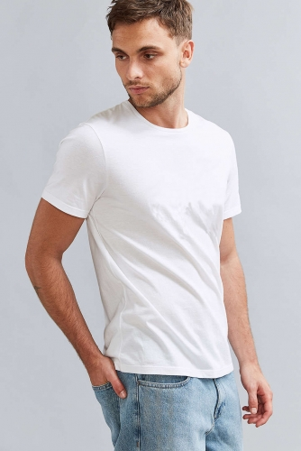 Men DIY letter print T-shirt