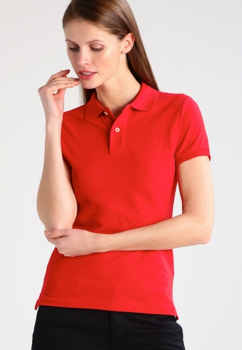 women's embroidered logo print custom fit polo shirt
